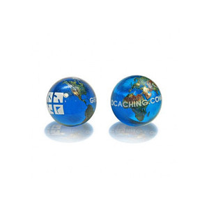 World Geocaching Logo Marble